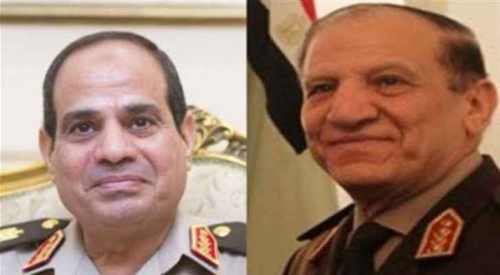 Sisi on the right, Anan on the left. (Tasnimnews)