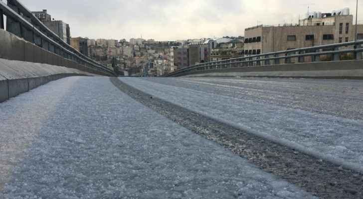 An image from last week's cold depression in which parts of Amman witnessed snowfall.