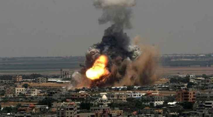 An Israeli airstrike in Gaza (from the archive- Roya News Arabic)