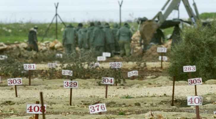 Cemeteries of numbers in Israel. (Alaraby)