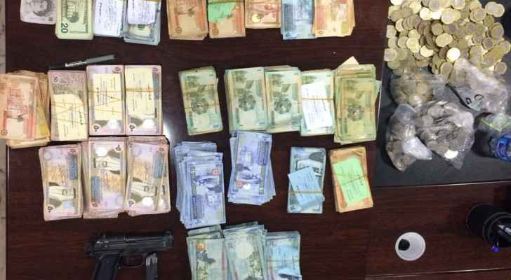 The amount of money retreived by the police.