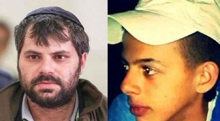 Mohammed Abu Khdier and his murdere Yosef Chaim Ben-David. (Alghad TV)