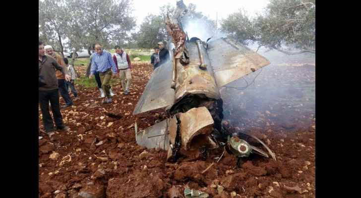 The plane wreckage claimed to belong to Israel. (Roya)