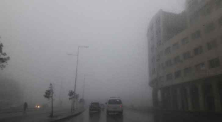 Amman is quite the foggy city this morning. (Roya)