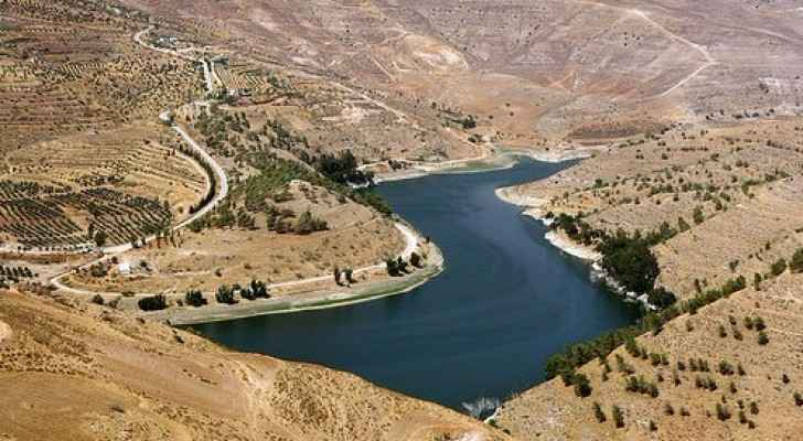 King Talal Dam in the hills of northern Jordan. (JordanTimes)