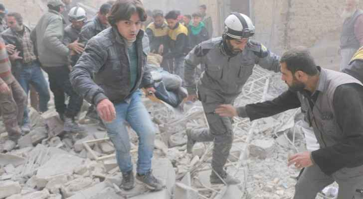 The Civil Defence Forces known as the White Helmets evacuating injuries in Eastern Ghouta. (TheWhiteHelmets)