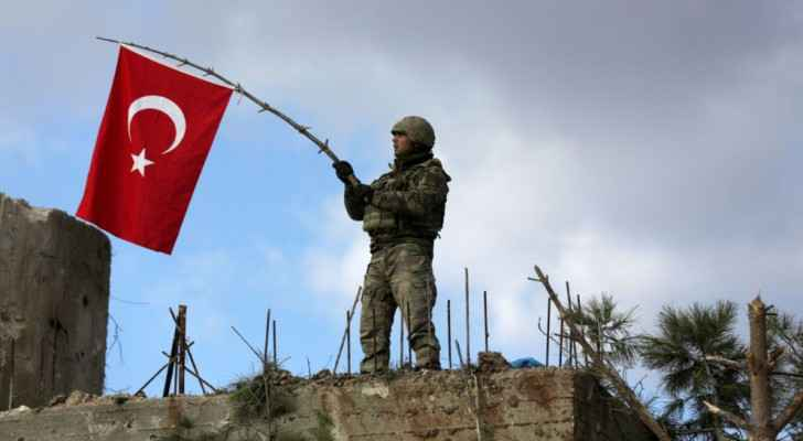 A photo for A Turkish soldier in Afrin