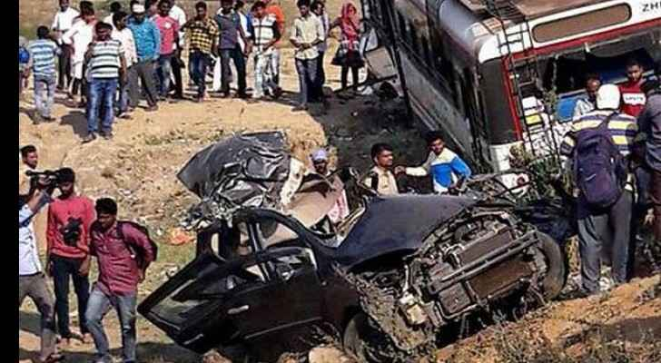 A photo for a road accident in Egypt