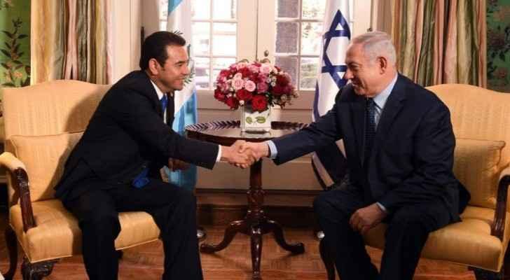 Guatemalan President Jimmy Morales on the left, Prime Minister Benjamin Netanyahu on the right (Jerusalem Post)