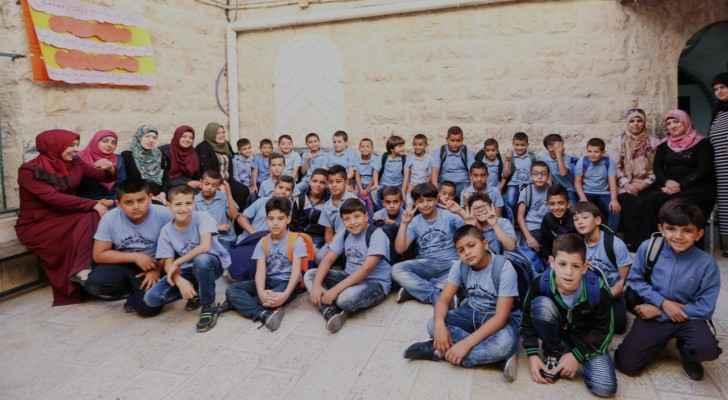 Students in a primary school in occupied Jerusalem (Belgian Development Agency)
