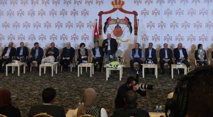 Mulki during his meeting with youth and Jordanian ministers.