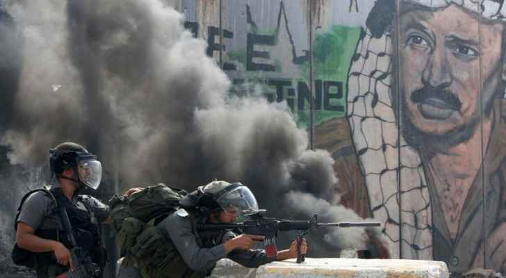 Clashes between the Israeli army and Palestinians