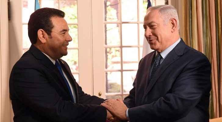 The Israeli PM Benjamin Netanyahu meets with Guatemalan President. (TheTimesOfIsrael)