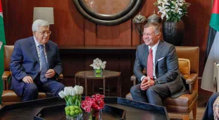 King Abdullah and Abbas met at Al Husseiniya Palace in Amman