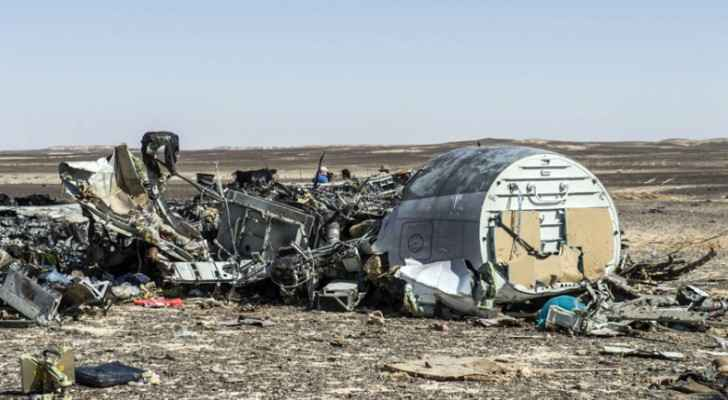 Ruins of the Russian plane that crashed in Egypt in 2015
