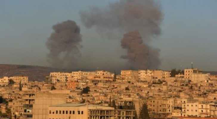 Photo of one of the explosions in Afrin