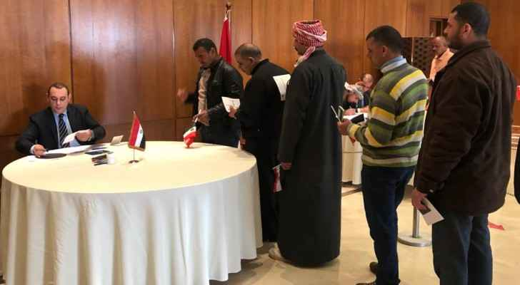 Egyptians in Amman cast their ballot in the Egyptian embassy