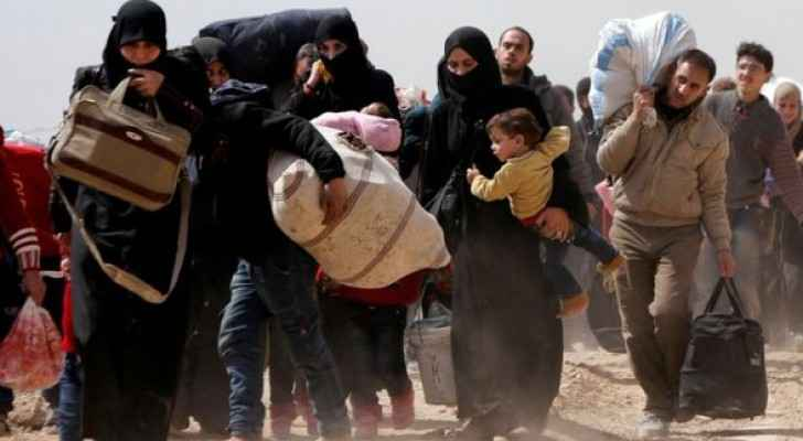 Thousands as they flee from Eastern Ghouta on Saturday