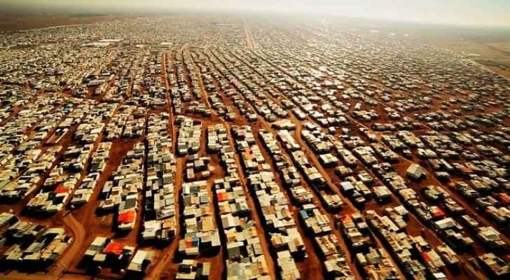 View on the Zaatari refugee camp near the Jordanian city of Mafraq (BBC)