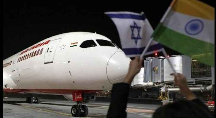 Picture of the plane as landing in Tel Aviv