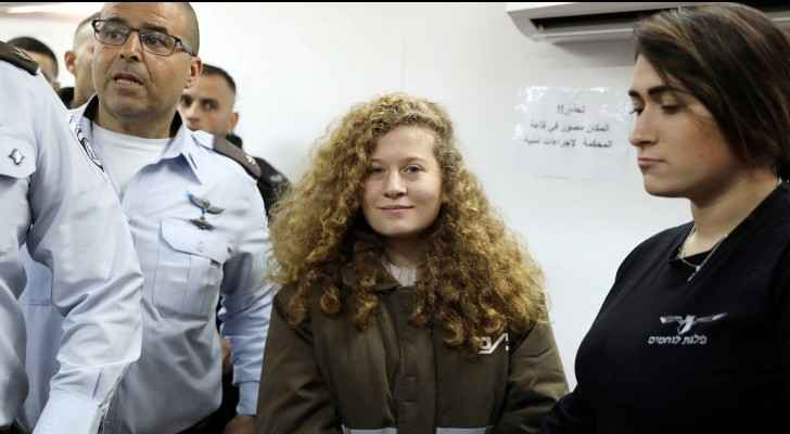 Ahed Tamimi during a trial