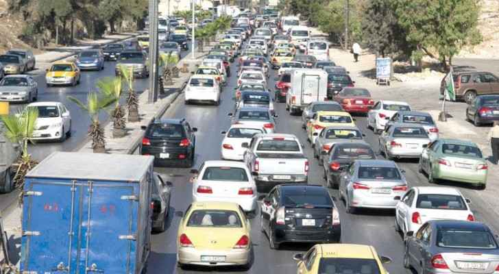 One of the busy streets in Amman. (The Jordan Times)