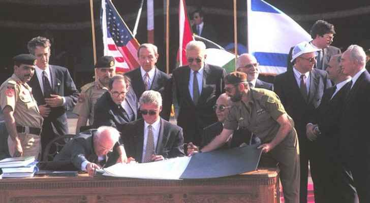 Jordan-Israel Peace Treaty recognizes Israel's land ownership over Al Baqura and Al Ghamr.