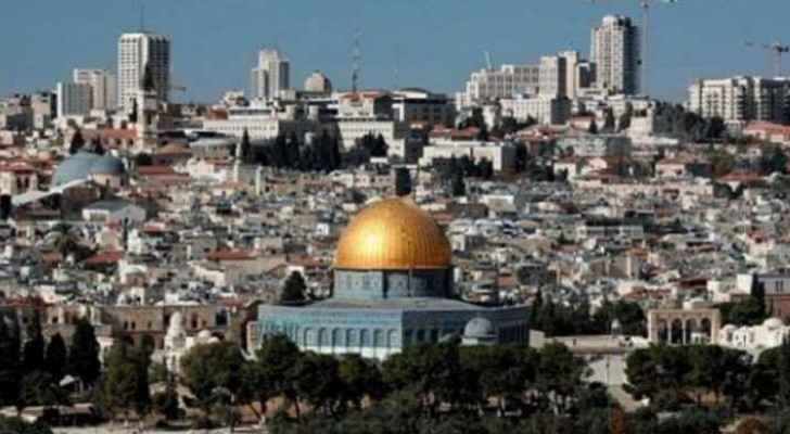 Panoramic view of Jerusalem showing the Dome of the Rock