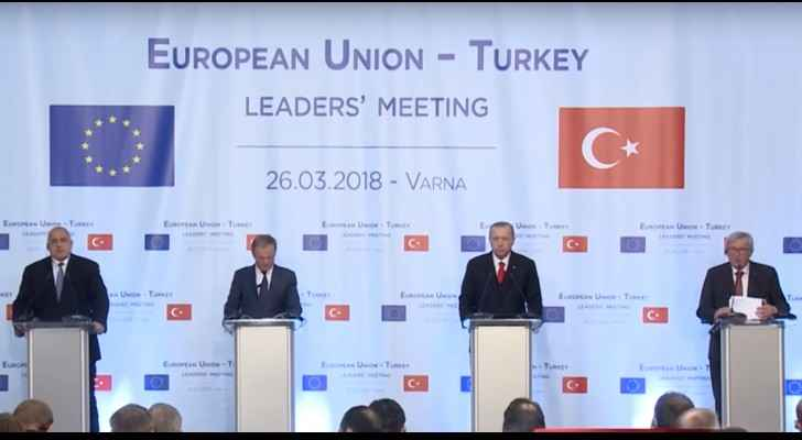 Left to right: Boyko Borisov, Donald Tusk, Recep Tayyip Erdogan and Jean-Claude Juncker (BiT Bulgaria)