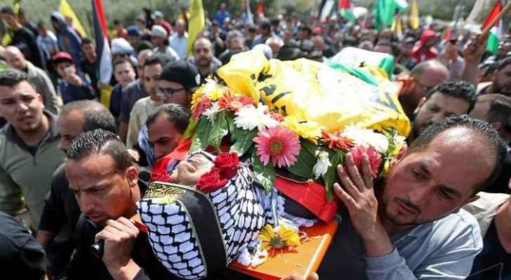 The funeral of Palestinian farmer, Mahmoud Owdeh (Al Manar)