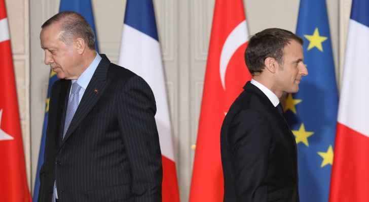 Turkish President Erdogan and French President Macron. (Ahval)