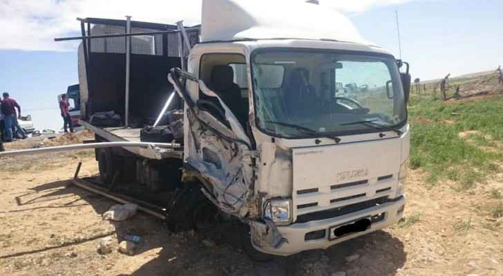 One of the vehicles affected by the collision