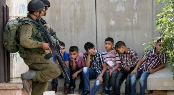 An image shows daily struggles faced by Palestinian children. (Addameer)