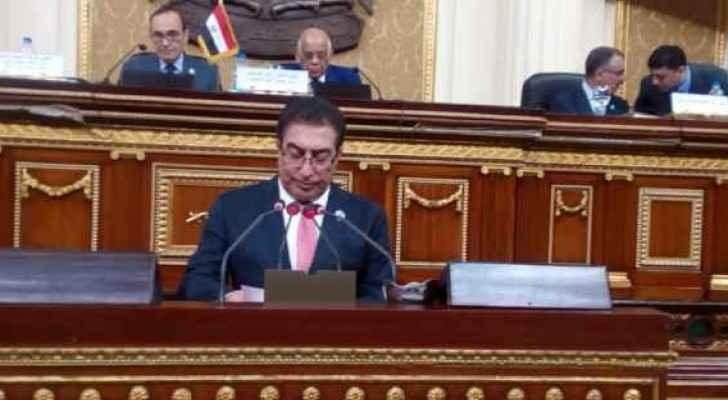 Tarawneh during his speech in the Arab Inter-Parliamentary Union in Cairo