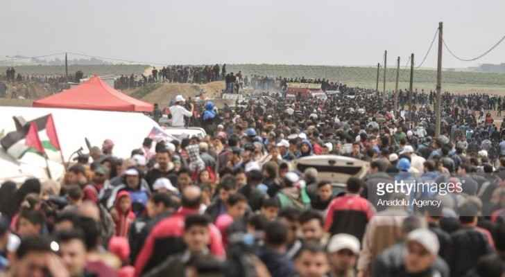 demonstrations near the border fence in Gaza