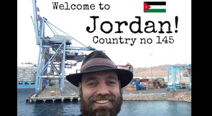 Torbjorn Pedersen during his visit to Jordan. (OnceUponASaga-FBPage)