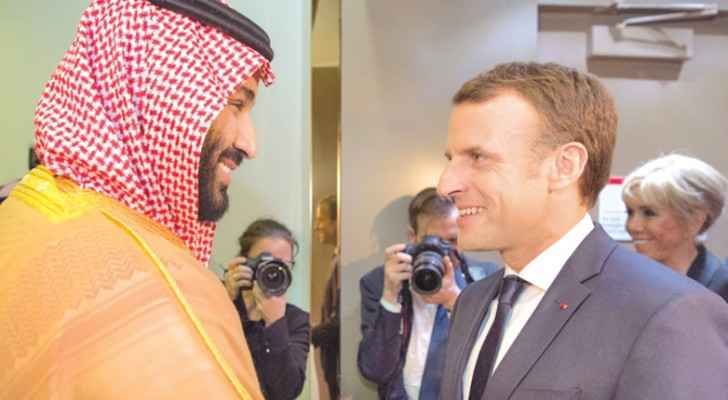 During Macron's visit to Riyadh in November, 2017 (The Independent)