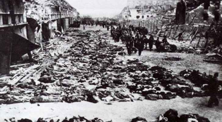 Footage taken for the Deir Yassin Massacre victims.