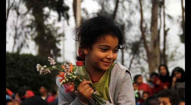 A little girl celebrates Sham El Nessim festival in Egypt. (Twitter)