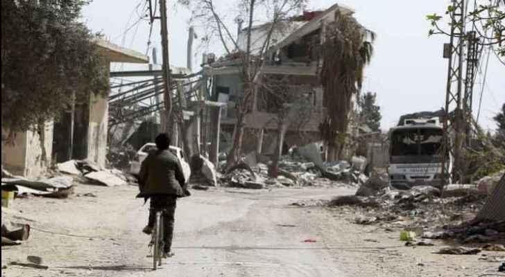 The Syrian Army has retaken the Damascus suburb. (Sky News)