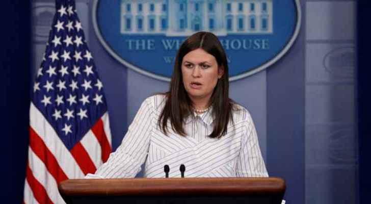 Press Secretary Sarah Sanders during a press briefing. (file photo)