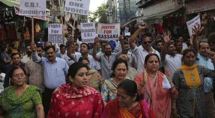 Photo from Indian demonstrations against child raping