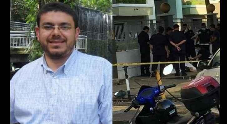 The Palestinian scholar Fadi Batsh was killed on Saturday. (AlWatanVoice)
