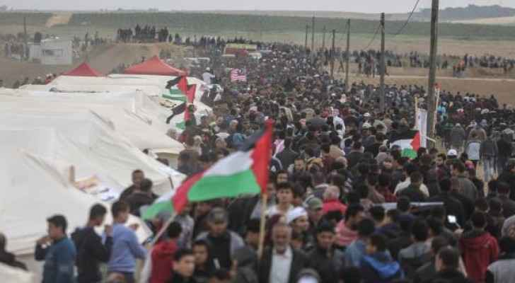 Palestinians are protesting on the Gaza border with Israel for the fourth consecutive week. (AnadoluNewsAgency)