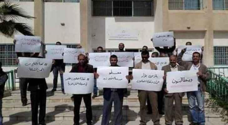 Jordanian teachers during their strike. (Roya)