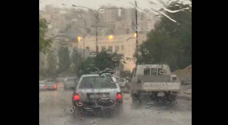Jordan wittnessed heavy rainfall on Thursday.