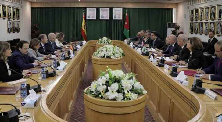 The Spanish delegation in the Upper House of Parliament (Petra news agency)