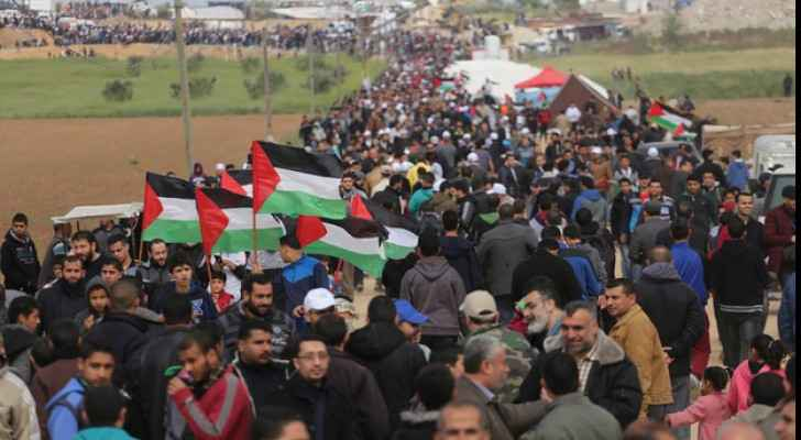 Demonstrations near the Gaza borders