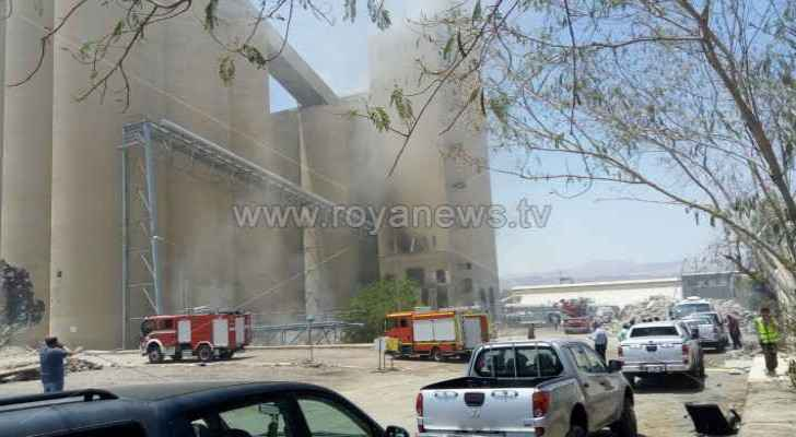 The fire in Aqaba's old port silos has been extinguished.