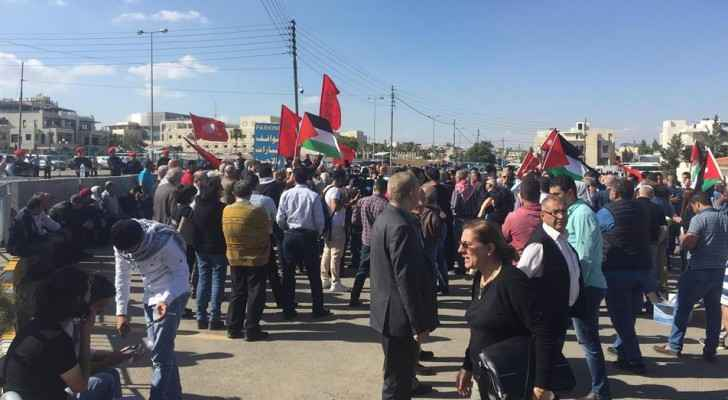 Protestors near the US Embassy in Amman. (Roya)